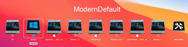Themes Modern OpenCore-0.6.6 Modern13