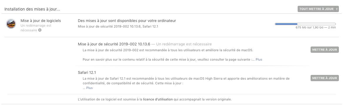 Problème Maj de sécurité 2019-002 High Sierra 10.13.6 Sans_t57