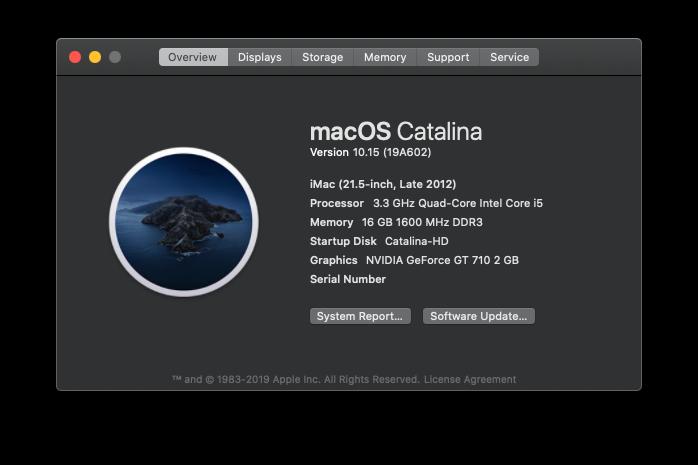 MacOS Catalina 10.15 mise à jour supplémentaire (19A602) Scree137
