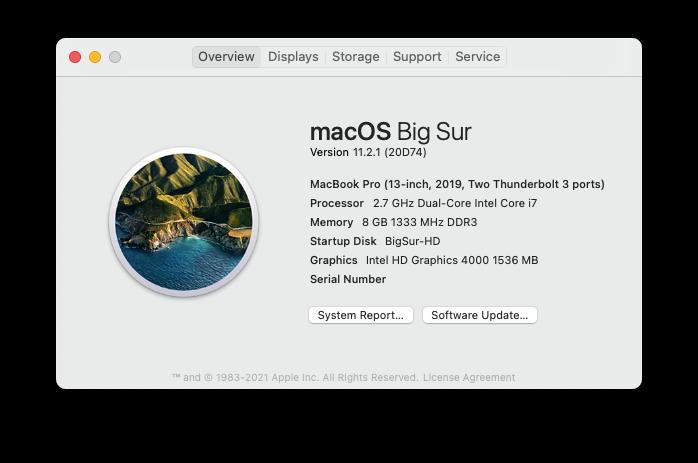 Mise a jour macOS Big Sur 11.2.1 (20D74) Scree169