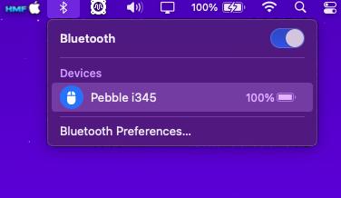 Souris Pebble i345 Scree295