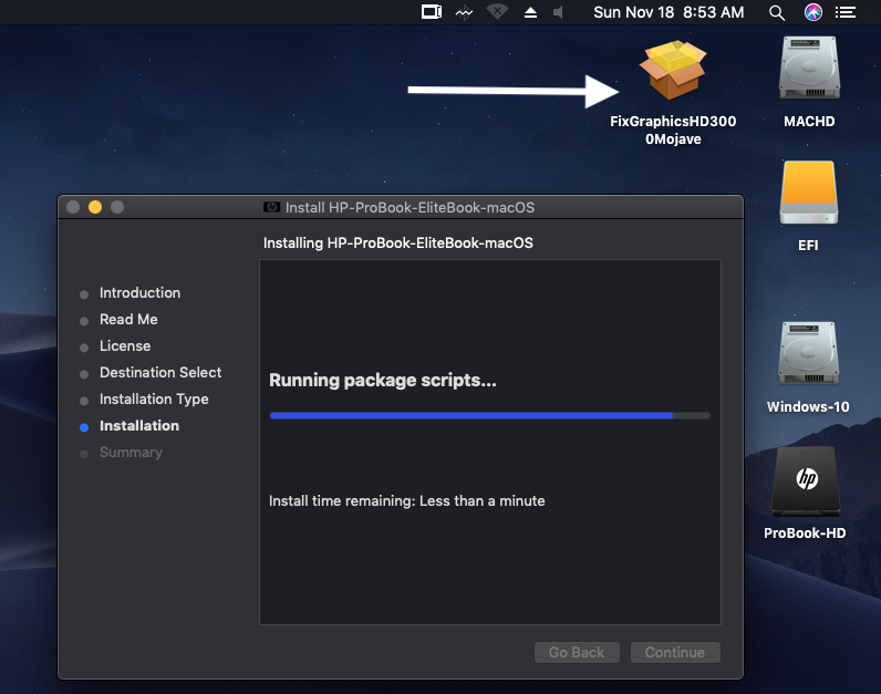 HP ProBook EliteBook macOS / HP ProBook EliteBook Package Creator Screen70