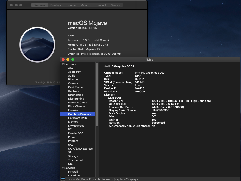 Fix Graphics HD 3000 Mojave 10.14 Catalina 10.15 Untitl14