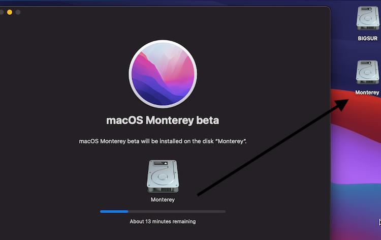 Création macOS Monterey Beta 7 Untitl41
