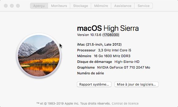Mise a jour de sécurité 2019-002 High Sierra 10.13.6 (17G6030) Update12