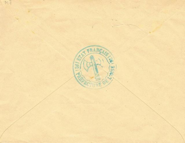 """Cachet administratif """" ETAT FRANCAIS /22/ PREFECTURE DE CHARENTE INFERIEURE"""" (1942) Ccf03014"""