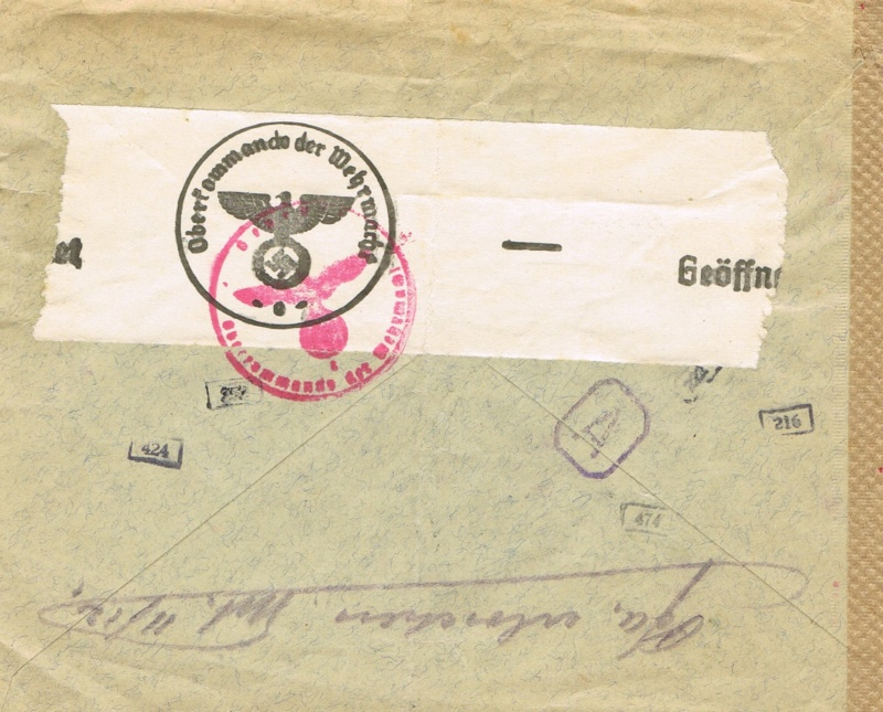 Griffe  « encadrée A  »  sur lettre commerciale  France   -  Allemagne Ccf07011