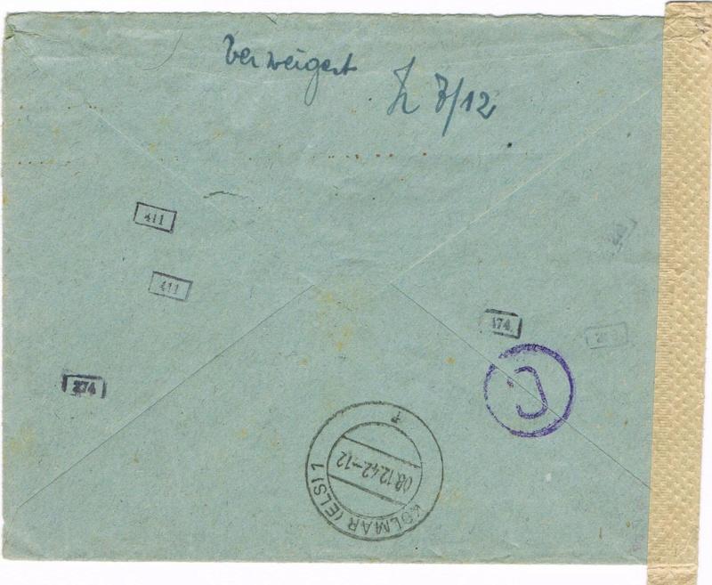 Lettre pour Kolmar Ccf10111