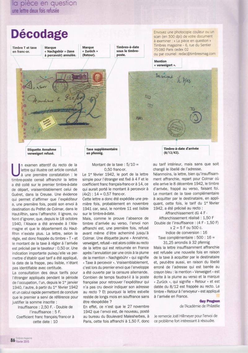 Lettre pour Kolmar Ccf10115