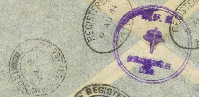 """Lettre recommandée par avion d'un  F.F.L. oblitération """" FIELDPOST OFFICE 61 »  du 7 août 1941 pour BRAZZAVILLE Ccf24014"""