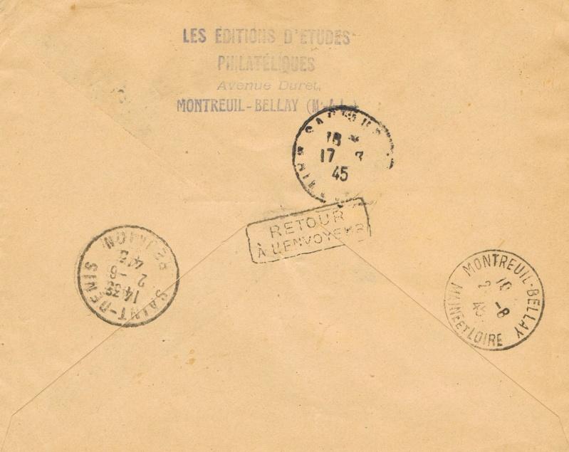 Tarif postal de France vers la Réunion en 1945 : Saumur Libération ?  Ccf26014