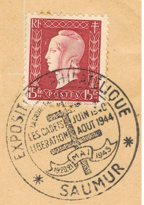 Tarif postal de France vers la Réunion en 1945 : Saumur Libération ?  Ccf26015