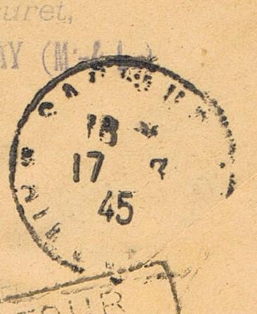 Tarif postal de France vers la Réunion en 1945 : Saumur Libération ?  Ccf26016