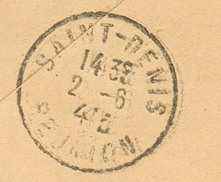 Tarif postal de France vers la Réunion en 1945 : Saumur Libération ?  Ccf26018