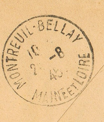 Tarif postal de France vers la Réunion en 1945 : Saumur Libération ?  Ccf26019