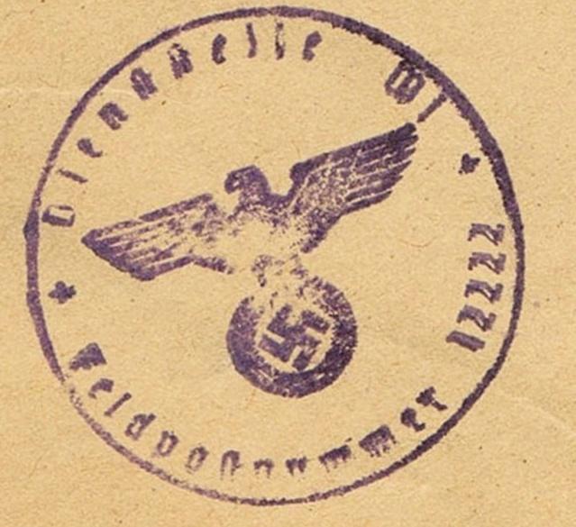 Lettre  de l'autorité d'occupation allemande s'accordant  la franchise à Paris en 1940  , taxée. Ccf28014