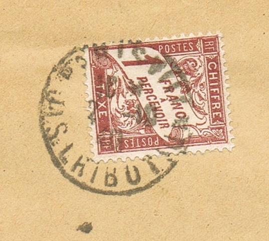 Lettre  de l'autorité d'occupation allemande s'accordant  la franchise à Paris en 1940  , taxée. Ccf28015