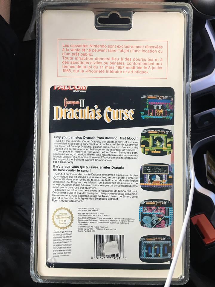 Castlevania 3 NES Dracula's Curse  et Battletoad blister rigide.  Drac310