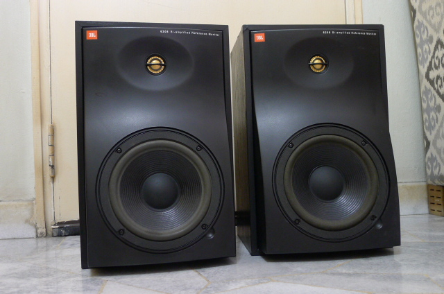 JBL 6208 Bi-amplified Active Reference Monitor Speakers (Used) SOLD P1150213