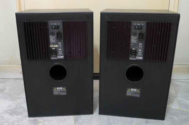 JBL 6208 Bi-amplified Active Reference Monitor Speakers (Used) SOLD P1150215