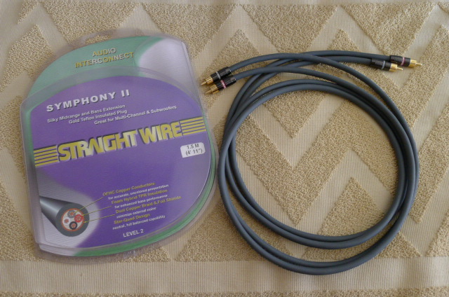 Straight Wire Symphony II Interconnects 1.5 m pair (Used) SOLD P1150242