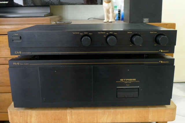 Nakamichi CA5 Preamplifier and PA5 Power Amplifier (Used) SOLD P1150249
