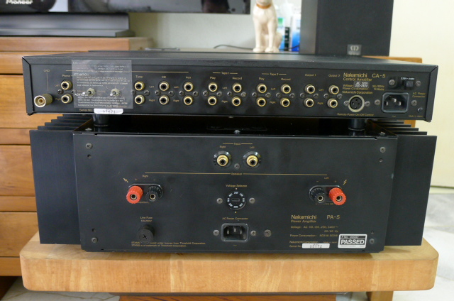 Nakamichi CA5 Preamplifier and PA5 Power Amplifier (Used) SOLD P1150250