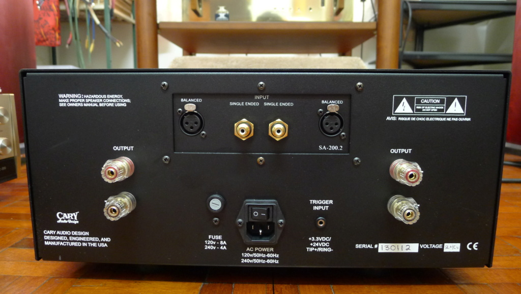 Cary Audio SA-200.2 Stereo Power Amplifier (Used) SOLD P1150425