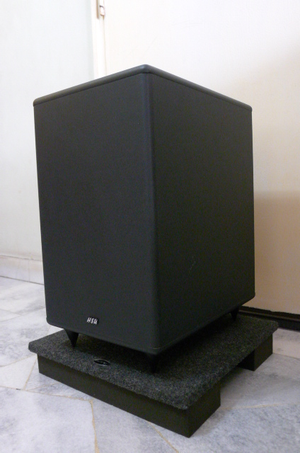 HSU Research STF-1 Active Subwoofer with Auralex Bass Board (Used) SOLD P1150614