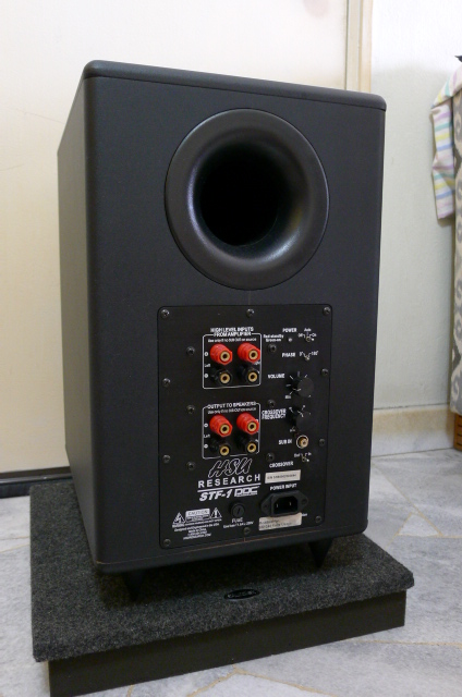 HSU Research STF-1 Active Subwoofer with Auralex Bass Board (Used) SOLD P1150615