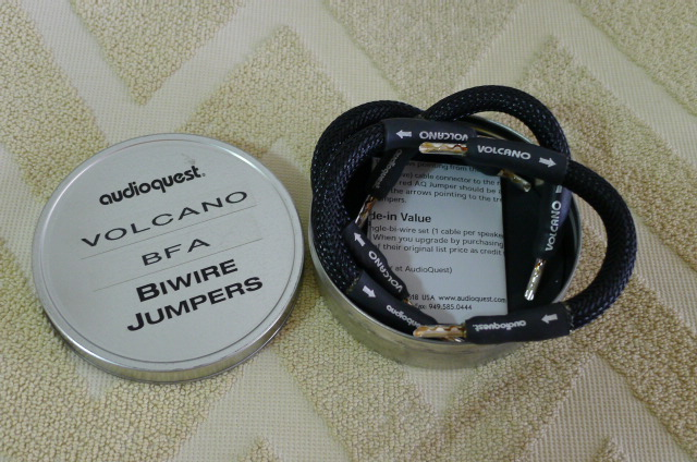 AudioQuest Volcano BFA Biwire Jumpers (Used) SOLD P1150733