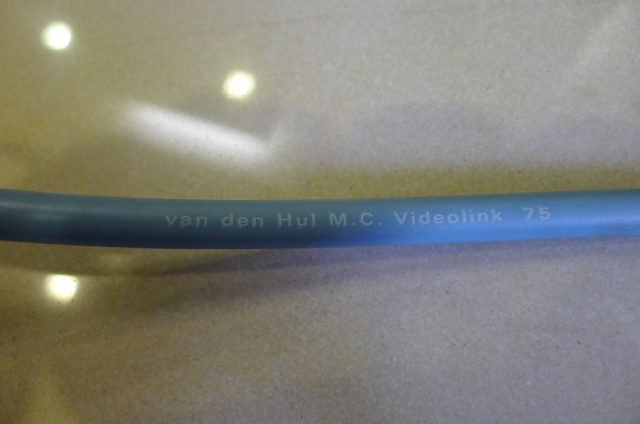 van den Hul MC Videolink 75 Digital Coaxial Cable, 1 m (Used) P1150915