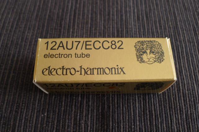 Electro Harmonix 12AU7/ECC82 Gold Pin Vacuum Tube, one piece (Used) SOLD P1160120