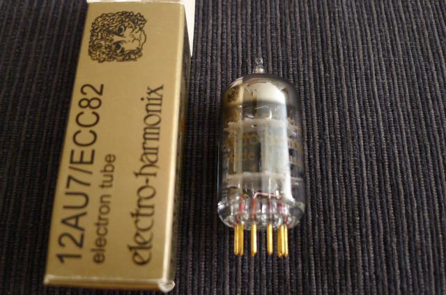 Electro Harmonix 12AU7/ECC82 Gold Pin Vacuum Tube, one piece (Used) SOLD P1160121