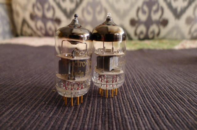 Electro Harmonix 6C45Pi Gold-Pin Vacuum Tubes, Matched Pair (Used) P1160124