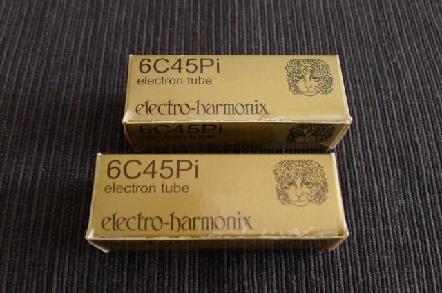 Electro Harmonix 6C45Pi Gold-Pin Vacuum Tubes, Matched Pair (Used) P1160125