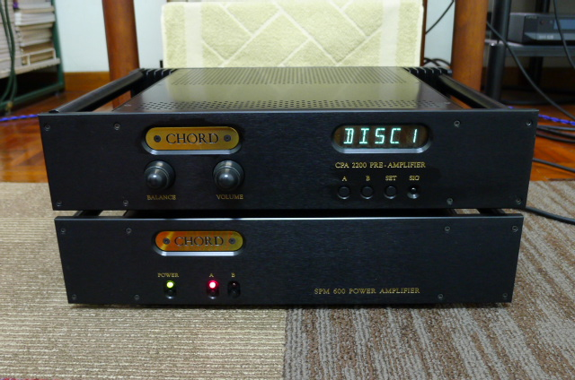 Chord CPA 2200 Preamplifier and Chord SPM 600 Power Amplifier (Used) SOLD P1160516