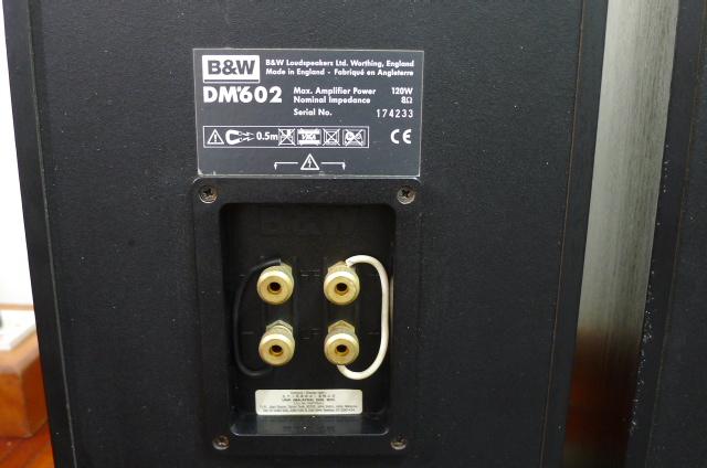 B&W DM 602 S1 Speakers (Used) SOLD P1160712