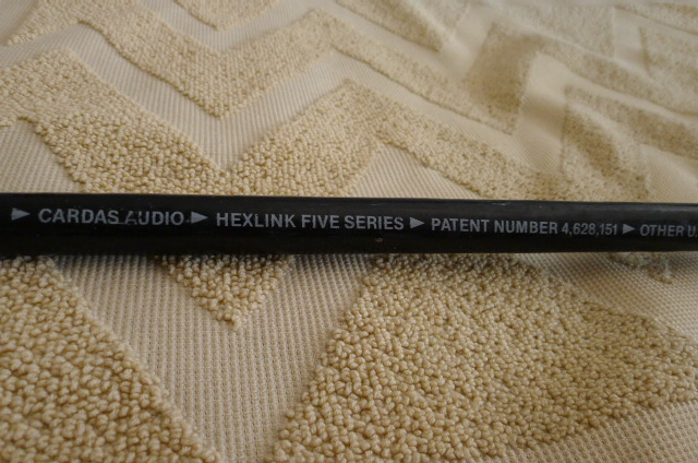 Cardas Hexlink Five Series Power Cord 2 metre (Used) SOLD P1160842