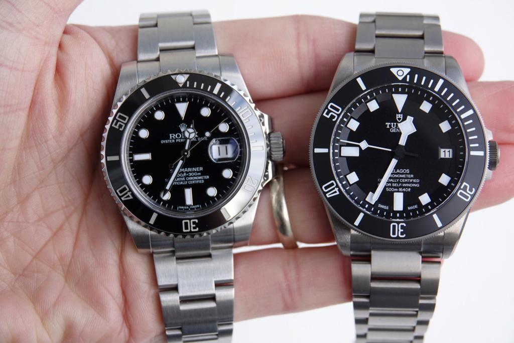 Pelagos - Tudor Pelagos VS Rolex Submariner Dsc00510