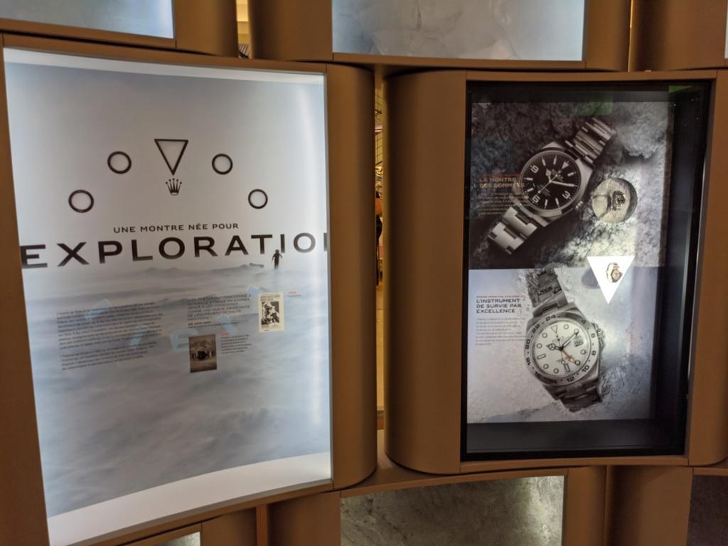 Actu: L'expo à voir cet été : la saga du cadran star de Rolex au Bon Marché Img_2561