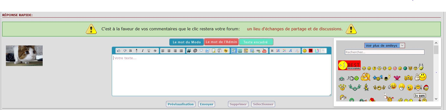 *RESOLU* [PHPBB3]Placement boite à smiley Captur58
