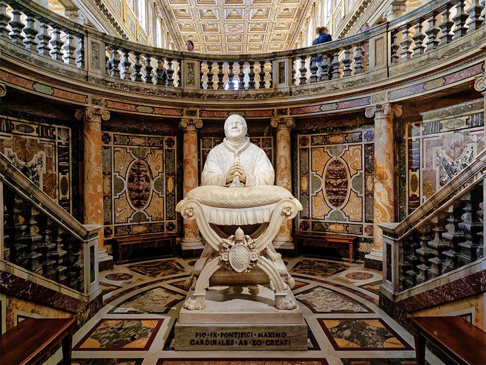 Rome, Sainte Marie Majeure, tombe du pape Pie IX Rome_s10