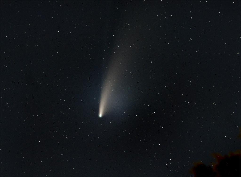 voici ma version de la comète Neowise Comete10