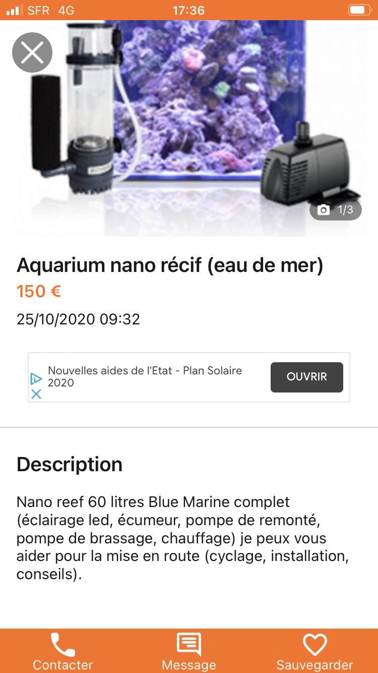 Avis blue marine reef 60 litres  37ca6310