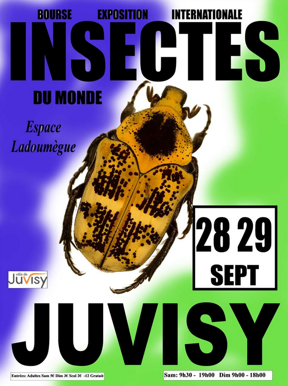 25ème Bourse Internationale de l'Insecte Affich11