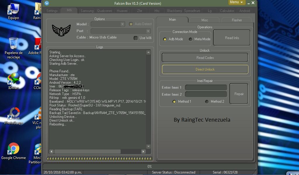 Direct unlock v765m Movilnet  00000010
