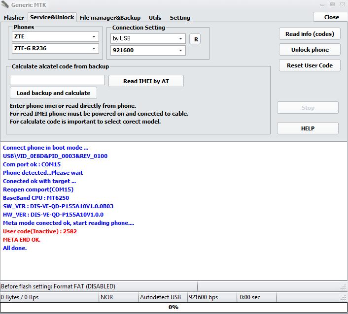 Reset Code User Zte-G R290 de Movilnet 15p4y010