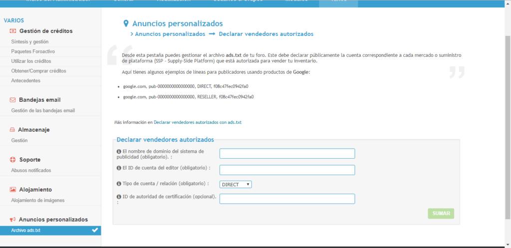 solicito Informacion con paquete premium y publicidad de adsense Tecnos12
