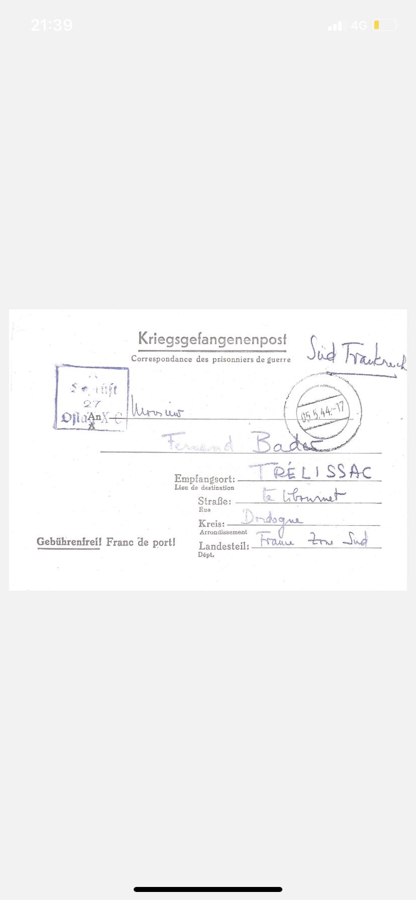 Information prisonnier de guerre  8b461d10